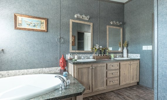stylish mobile homes bathroom image
